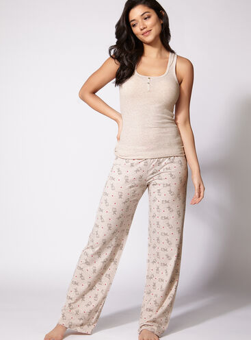 Bunny vest and pants pyjama set