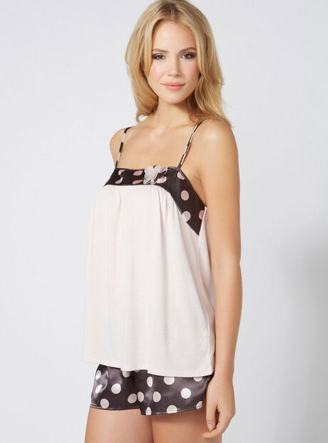 Kirsty spot camisole and shorts set