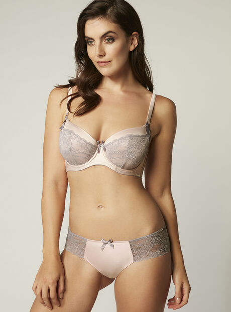 Sylvia satin and lace briefs