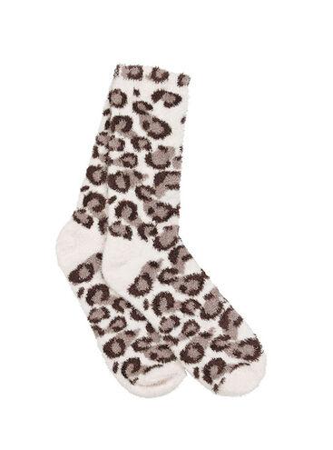 Cosy leopard socks
