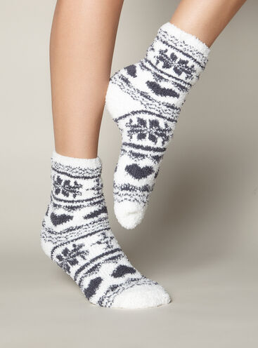 Fairisle chenille socks