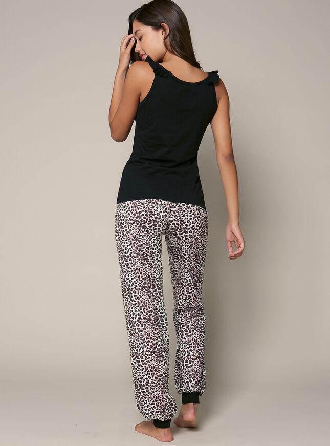 """Meow or never"" vest and pants pyjama set"