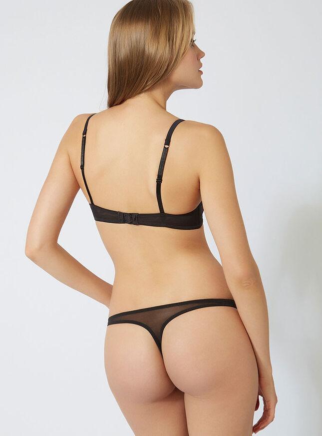 Tara pleated thong