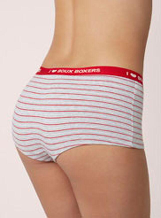 Brooke striped boy shorts