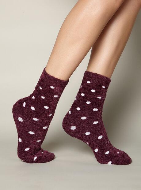 Spot chenille socks