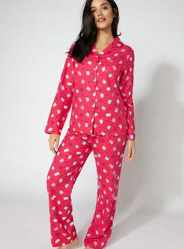 Owl pyjamas in a bag