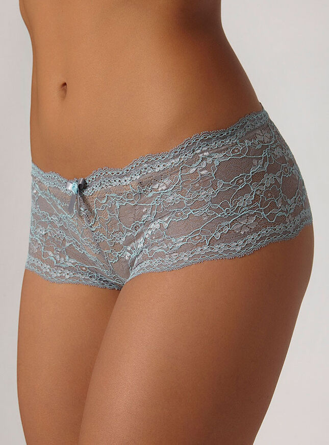 Chloe contrast lace shorts