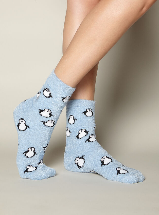 Penguin chenille socks