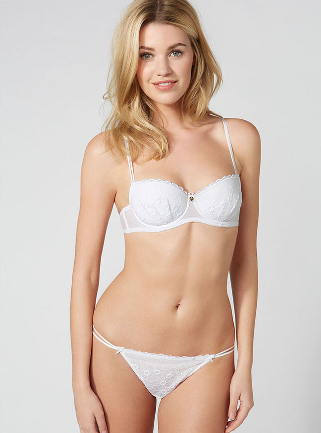 Daisie embroidered balconette bra
