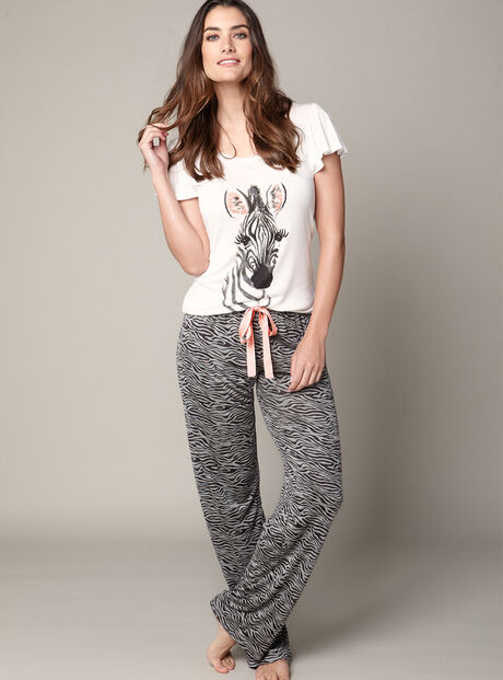 Zingy zebra tee and pants set