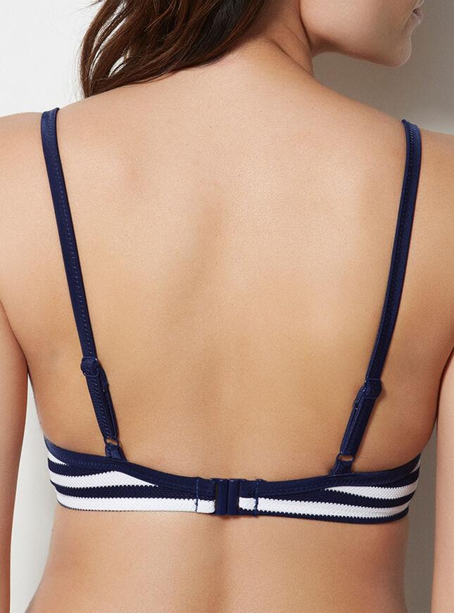Boca Raton stripe bikini top