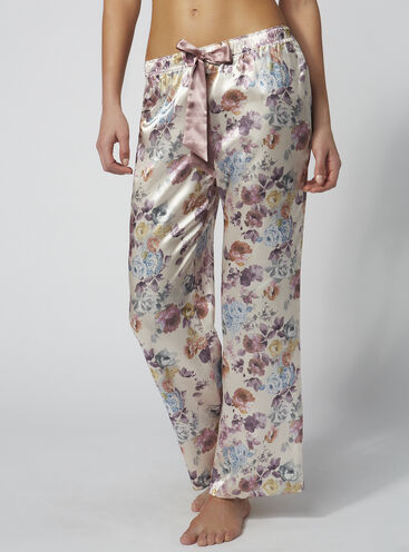 Blush rose floral pyjama pants