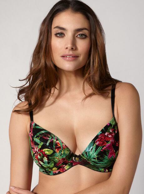 Tanisha floral plunge bra