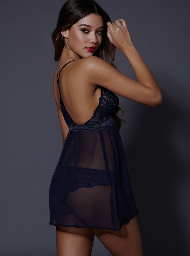 Verity chemise and thong