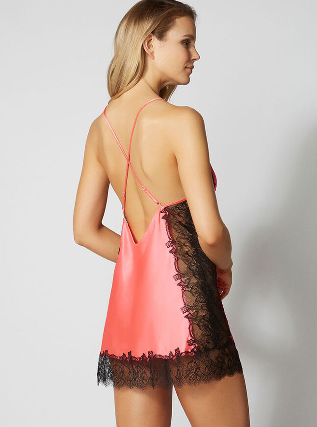 Lilly crossback satin chemise