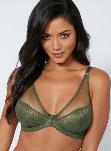 Brooke non-padded full support plunge bra
