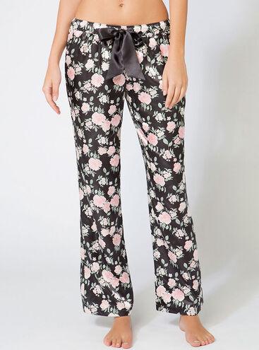 Wild rose floral pyjama pants