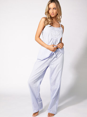 India embroidered cami and pants set