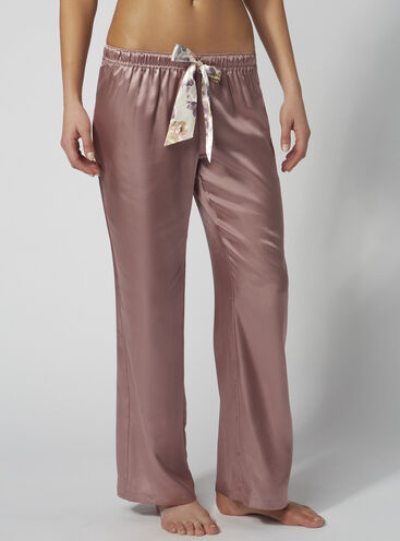 Blush rose satin pyjama pants