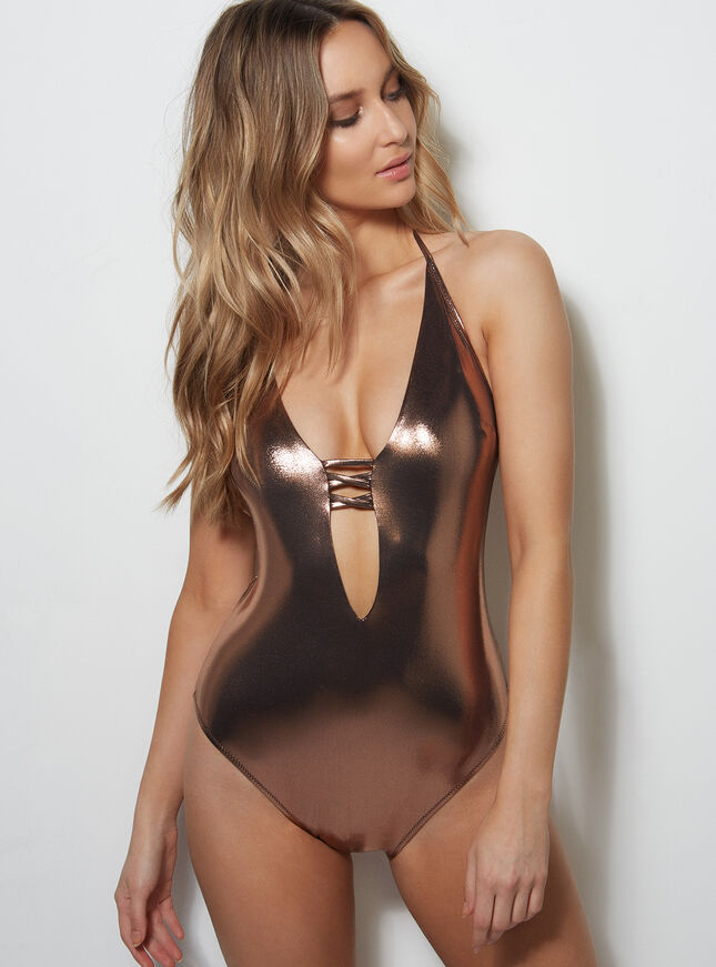 Cabaret metallic swimsuit