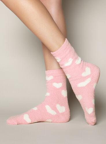 Heart chenille socks