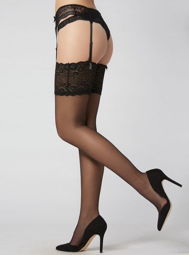 Lace Top Glossy Stocking