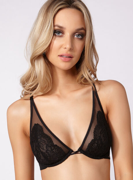 Zoe high apex non-padded bra