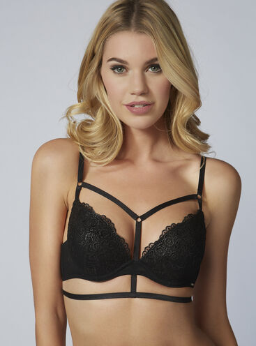 Ruby caged plunge bra