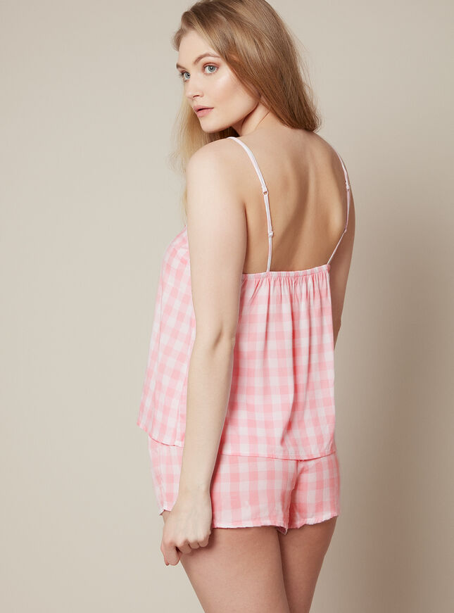 Prairie gingham cami set
