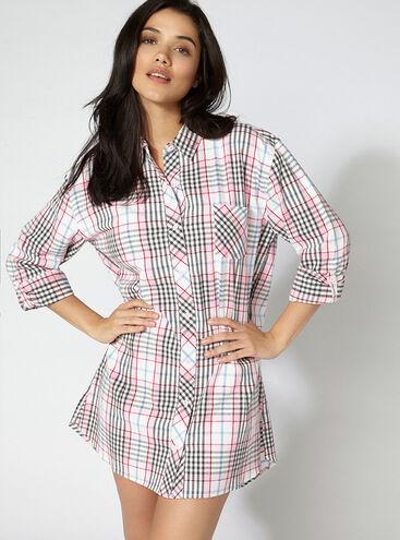 Paloma check nightshirt