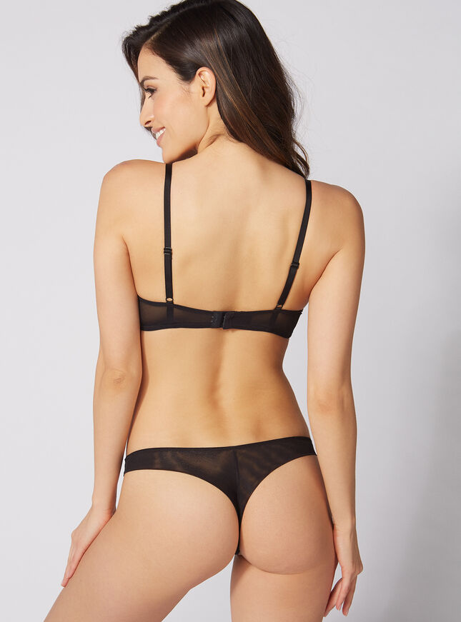 Jinny rose embroidered thong