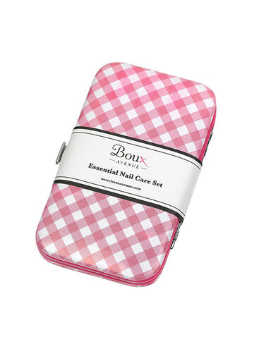 Gingham Manicure Set