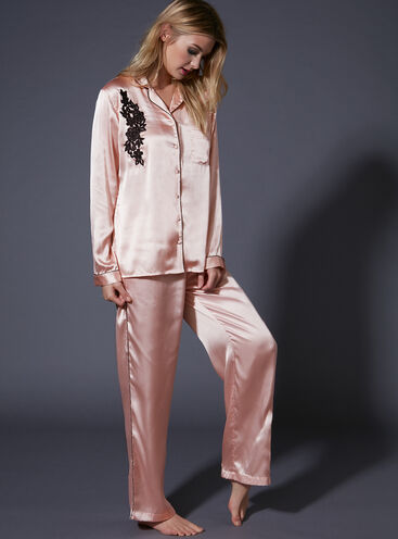 Genevieve satin PJ set