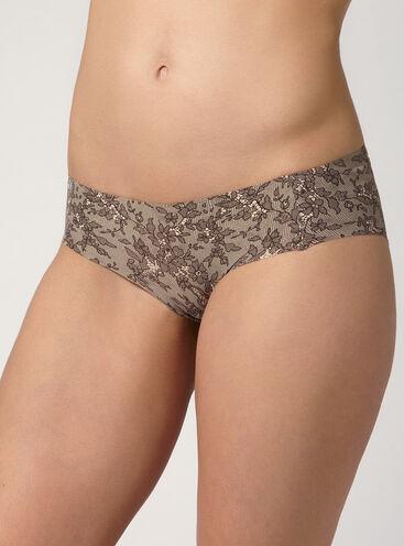 Lace print bonded shorts