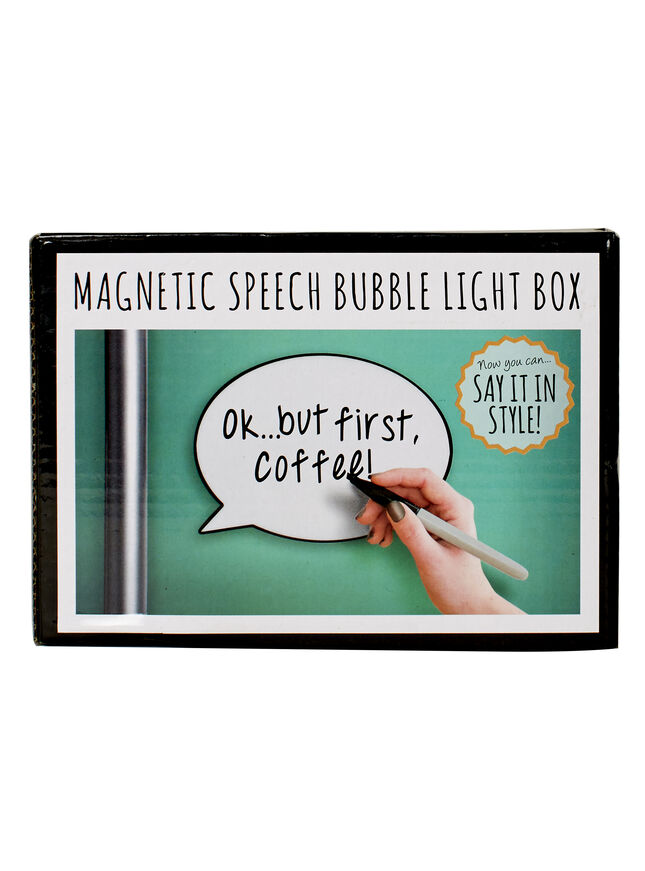 Mini speech bubble lightbox