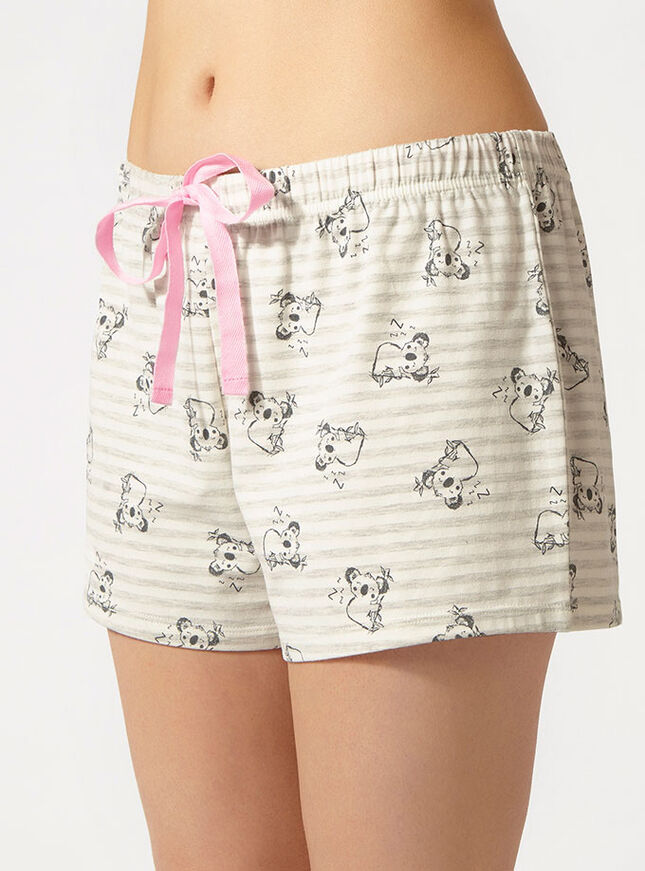 Koala vest and shorts pyjama set