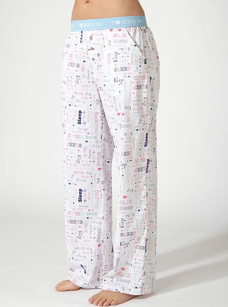 Belle slogan pyjama pants