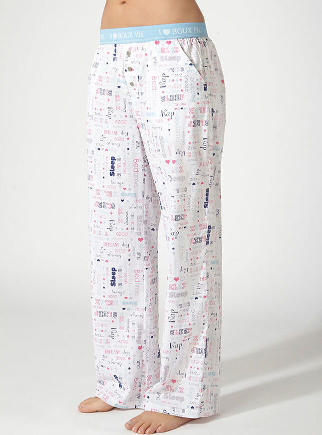 Belle slogan pyjama pants