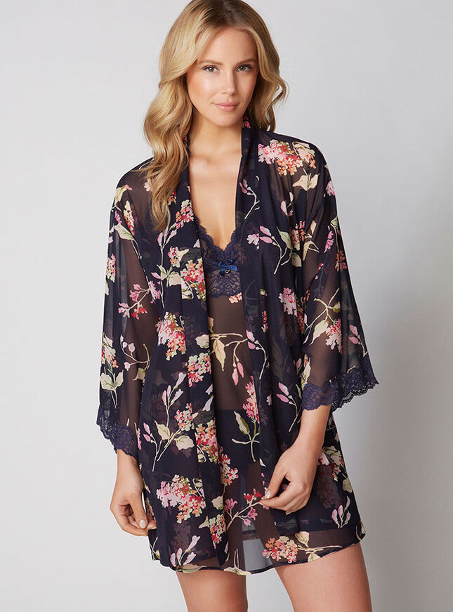 Hydrangea chiffon chemise