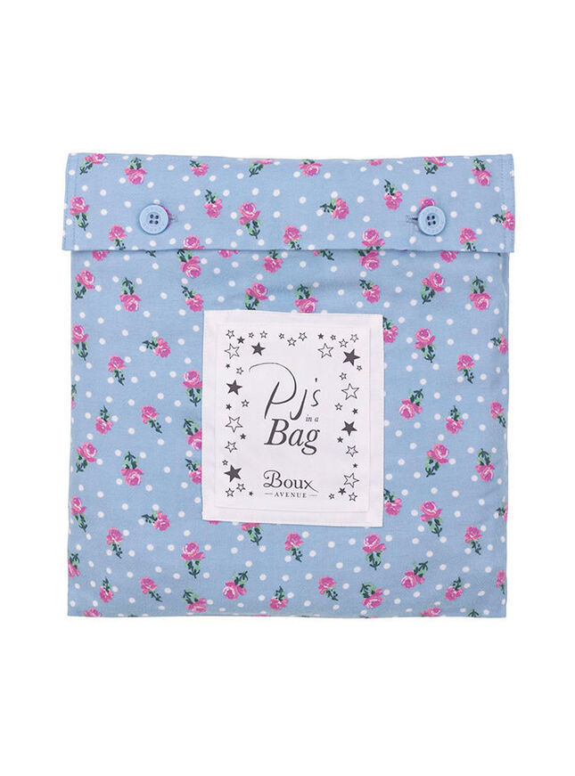Floral pyjamas in a bag