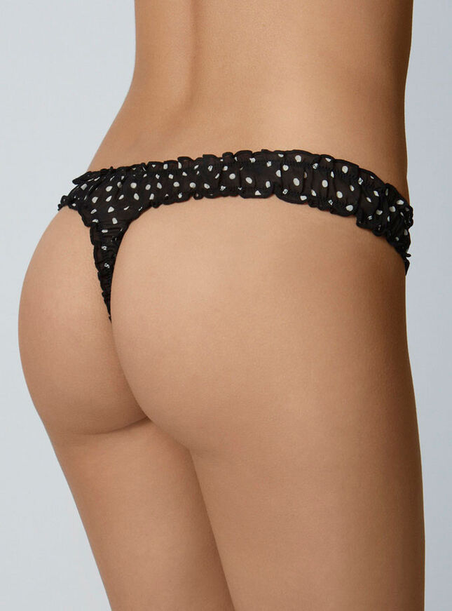 Spot scrunch thong