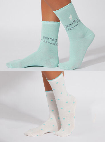 Cactus/spot 2 pack ankle socks