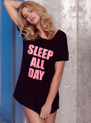 """Sleep all day party all night"" sleep tee"