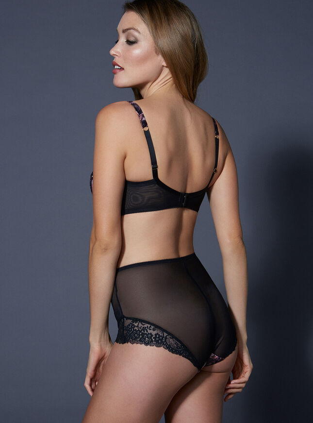 Reagan satin high waisted briefs