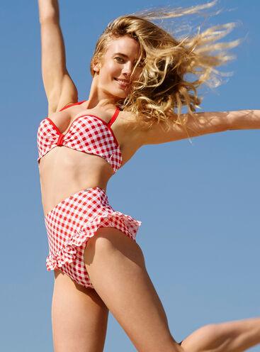Hollywood gingham bikini top