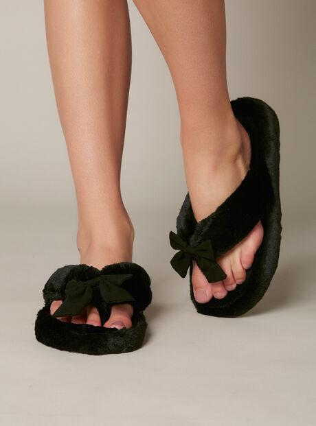 Plush flip flops