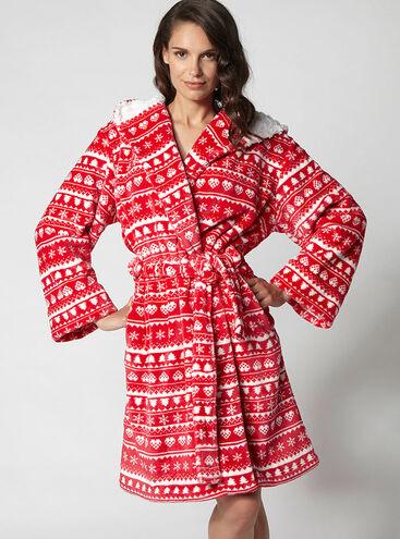 Fairisle hooded robe
