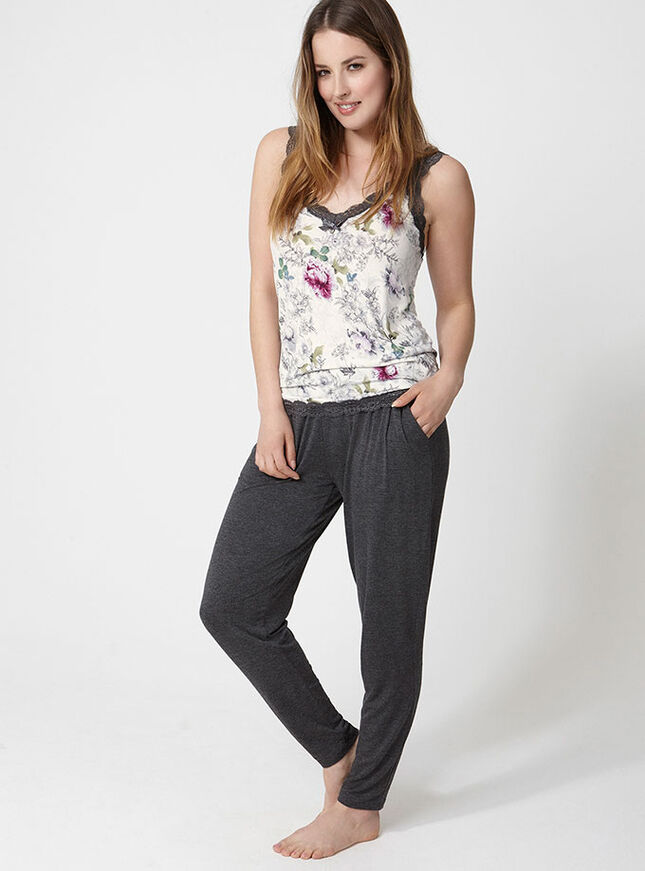 Botanical floral camisole