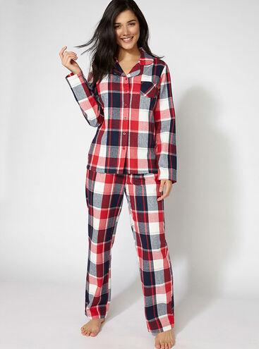 Casey check pyjamas in a bag