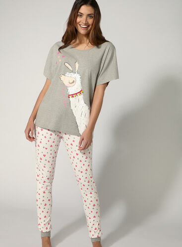 """Drama llama"" pyjama set"